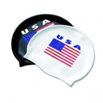 TYR USA Print Silicone Cap